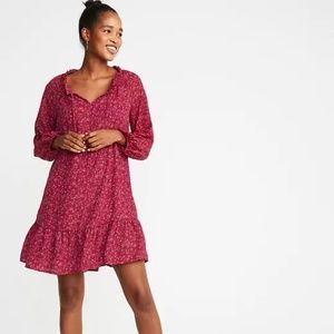 Ruffled Georgette Swing Dress for Women